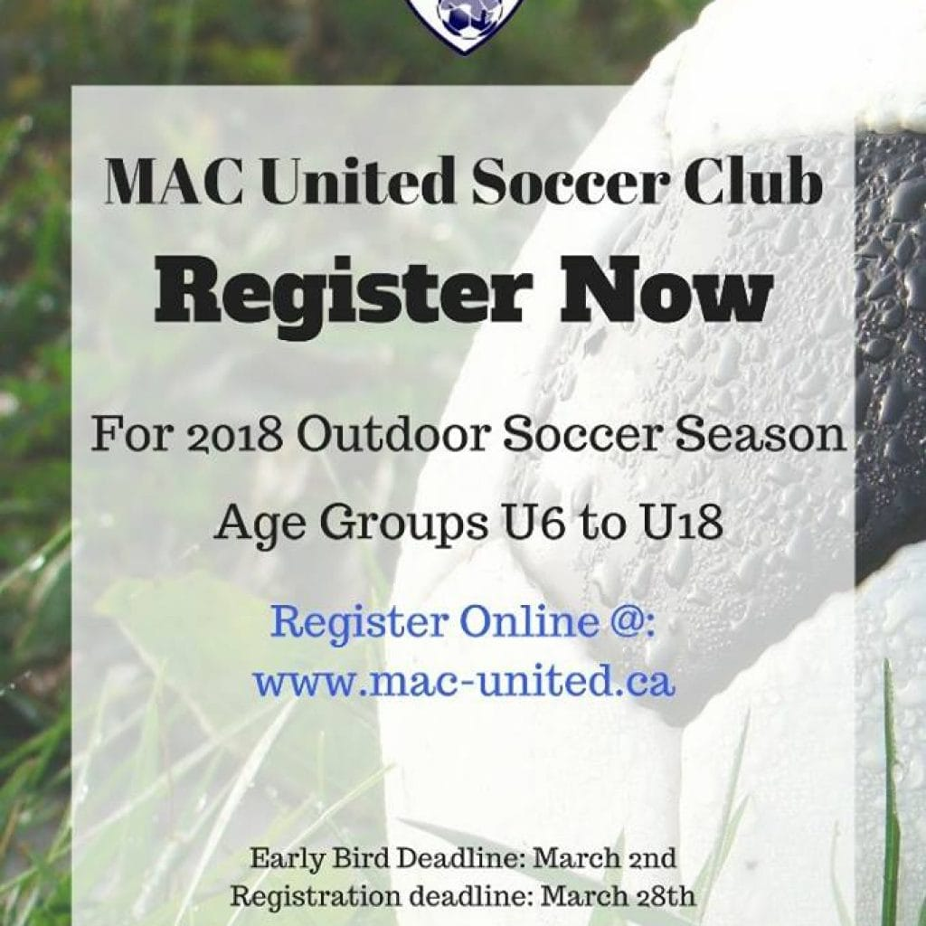 Registration Open for 2018 Outdoor Soccer Season