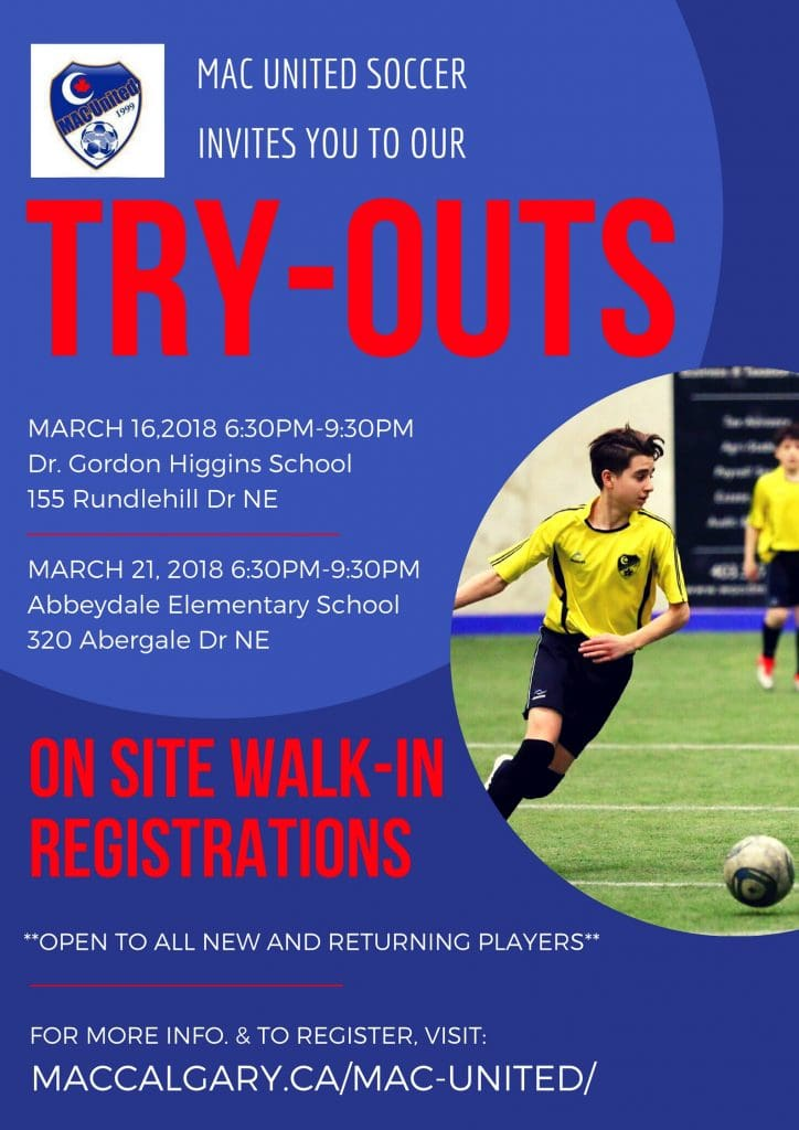 WALK-IN REGISTRATION & TRY-OUTS