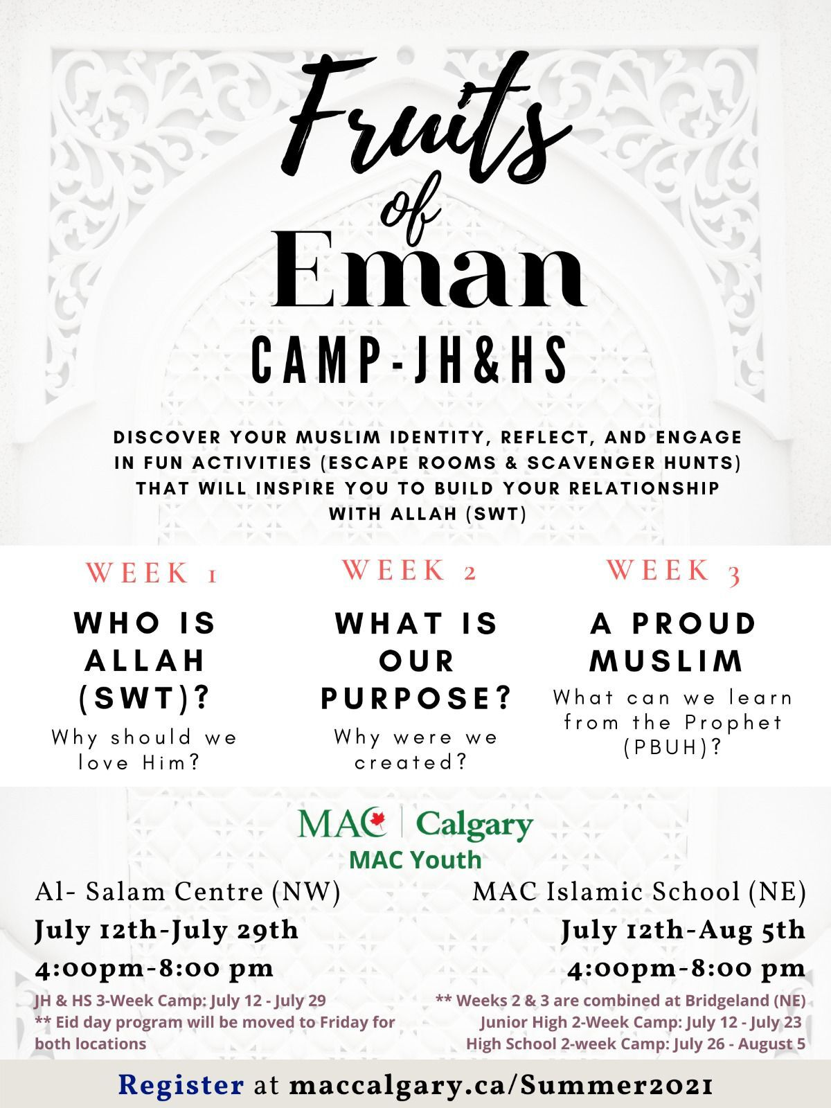 JH & HS Camps: Fruits of Eman
